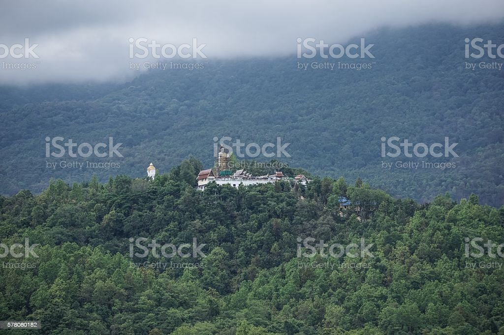 Temple on the mountain royalty-free stock photo
