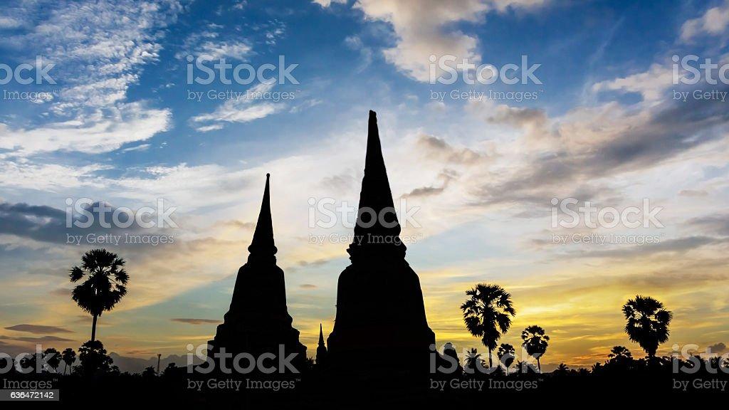Temple on twilight time stock photo