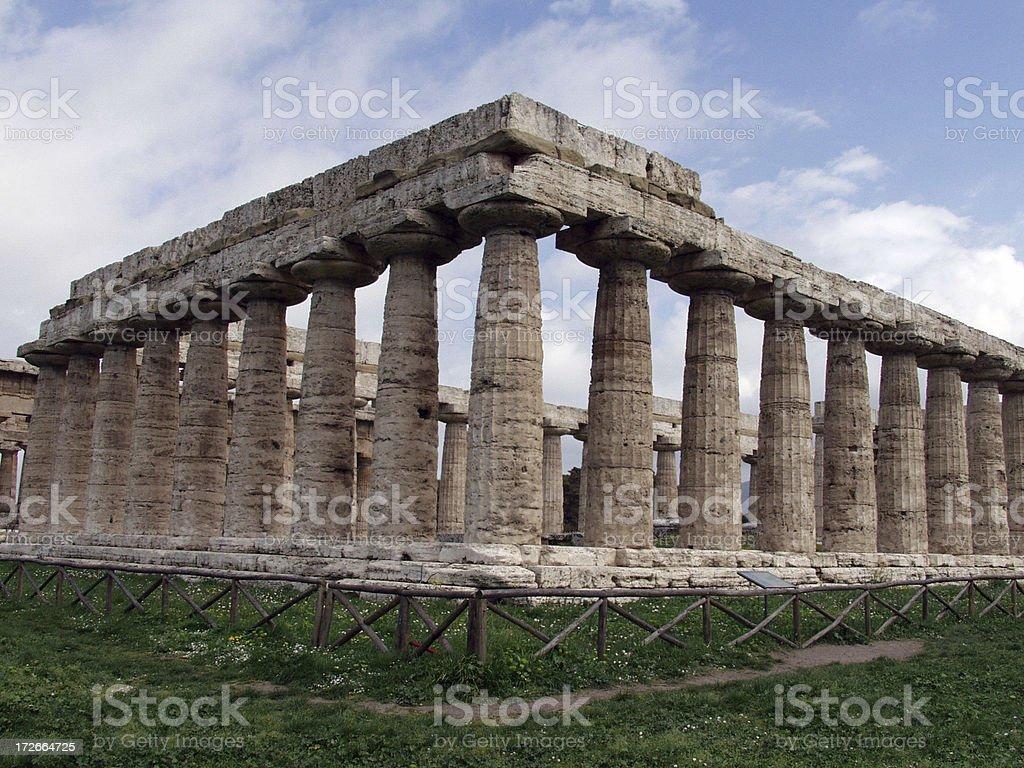 Temple - Paestum. Italy. stock photo