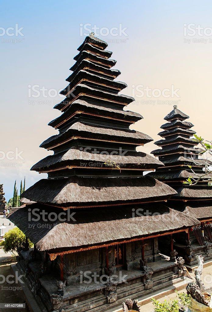 temple pura besakih à bali stock photo