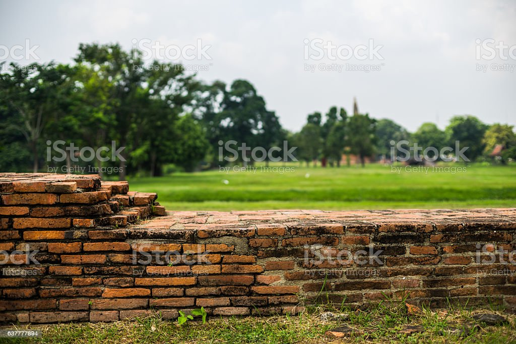 temple relics in Thailand stock photo