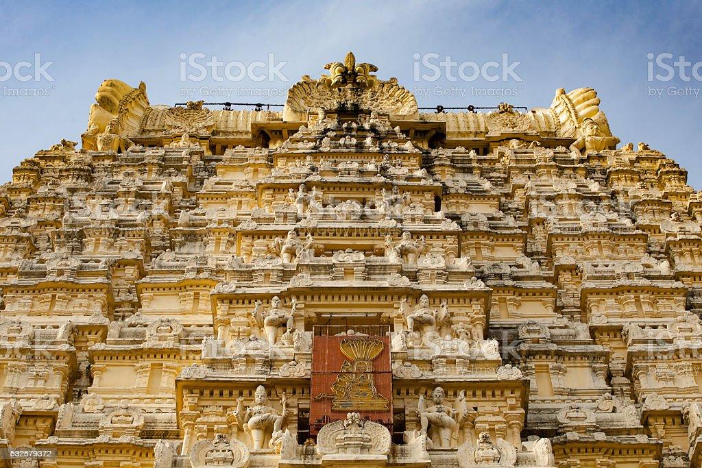 Temple Relief in Kanchipuram stock photo