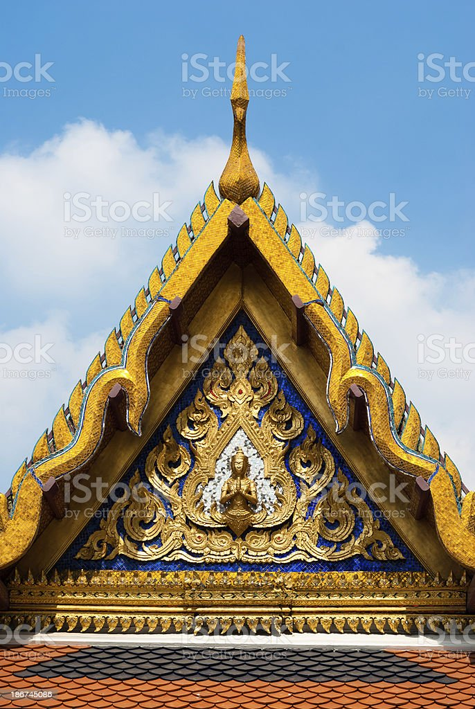 Temple roof royalty-free stock photo