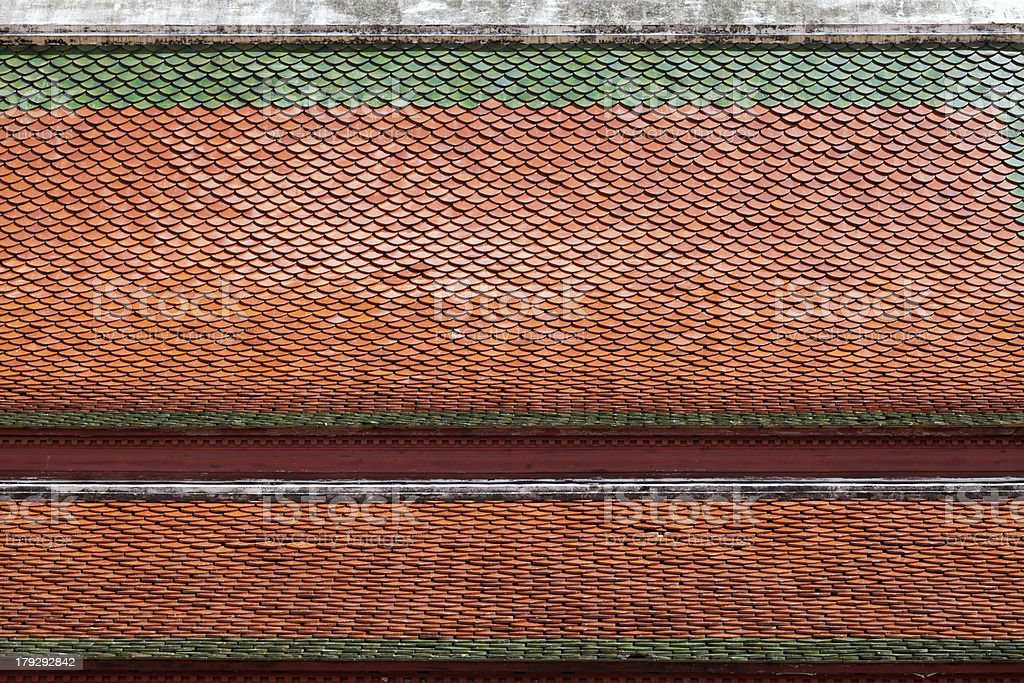Temple roof tile pattern royalty-free stock photo