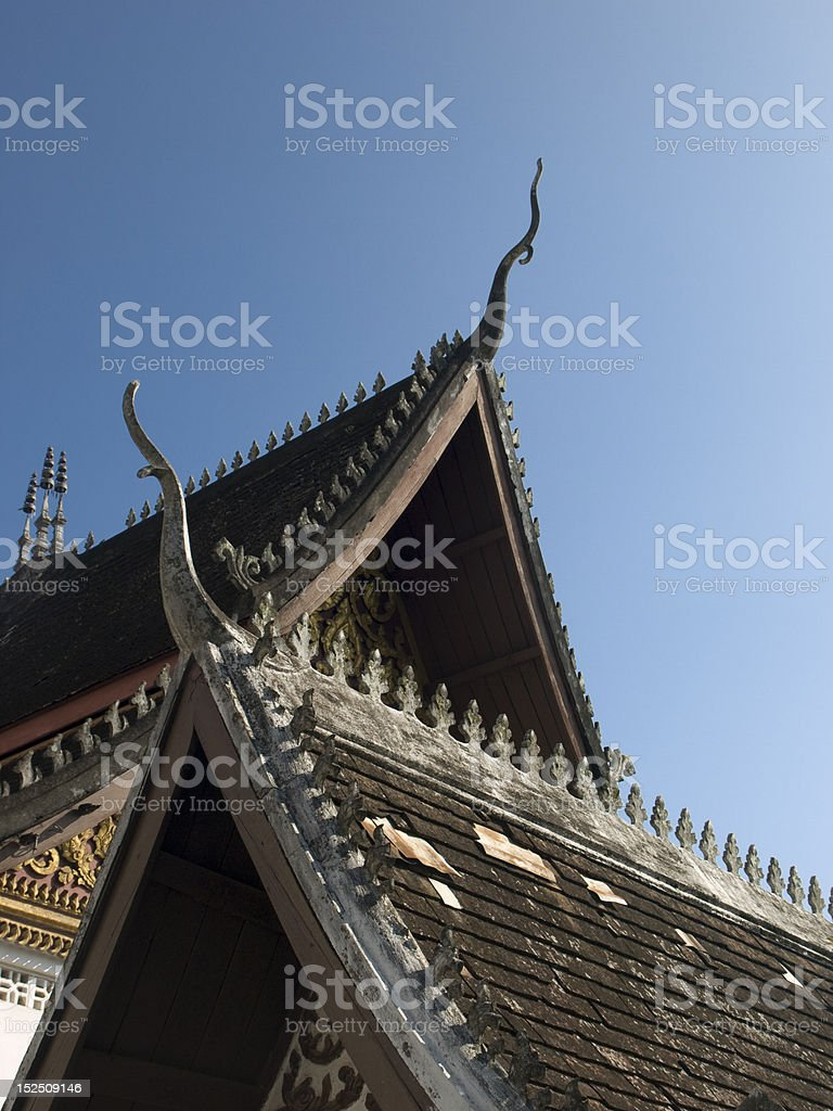 temple roof tops royalty-free stock photo