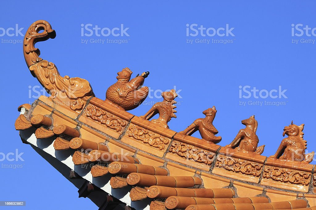 Temple Roofs royalty-free stock photo