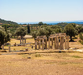 Temple Ruins at Ancient Messini, Messinia, Peloponnese, Greece