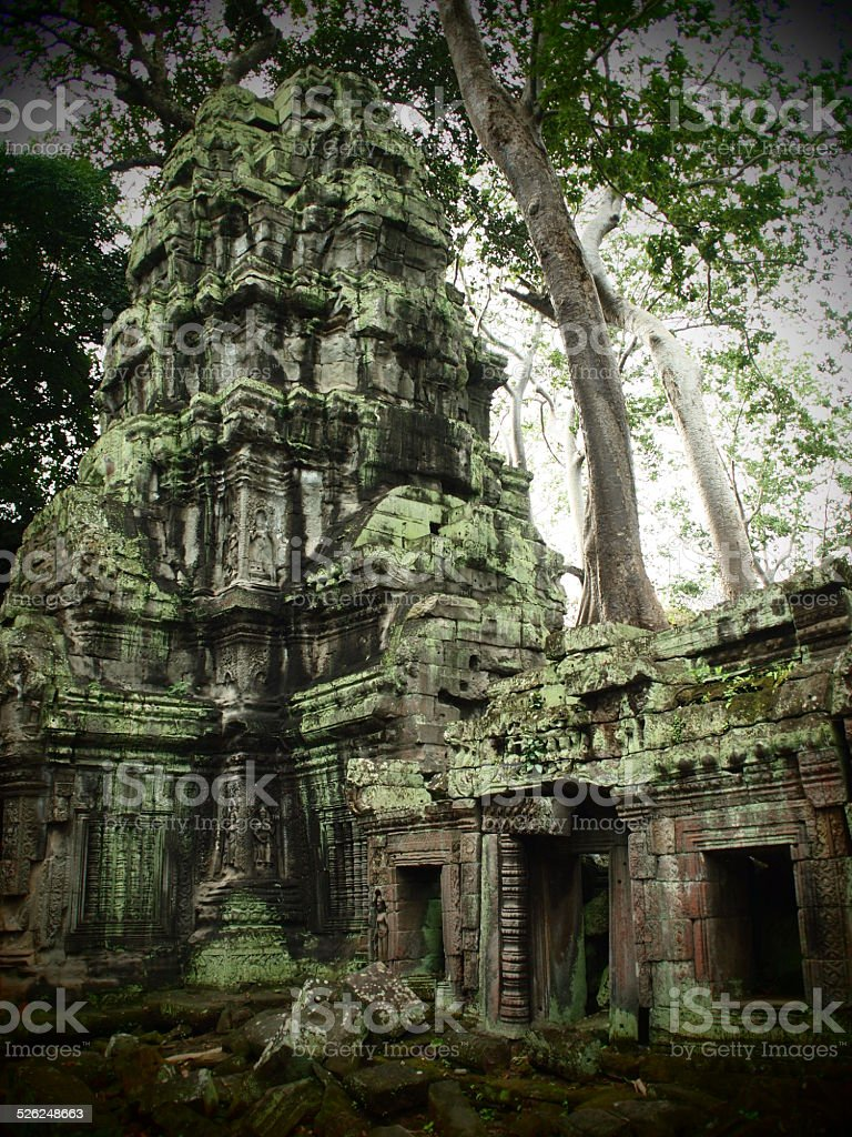 temple ruins at Angkor stock photo