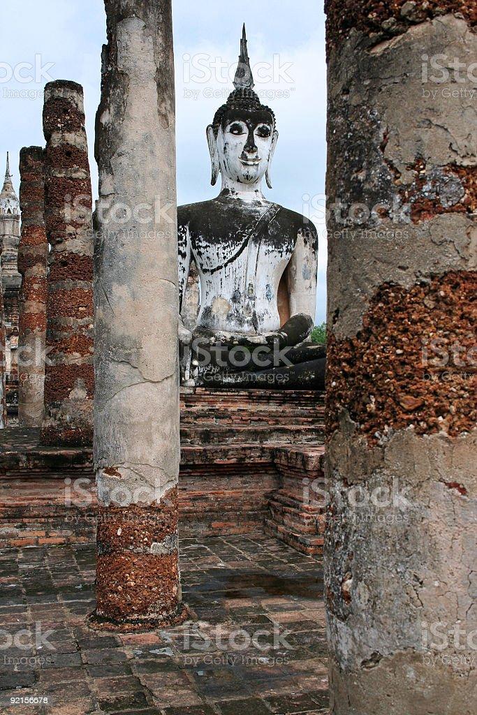 temple ruins buddha Sukhothai thailand royalty-free stock photo
