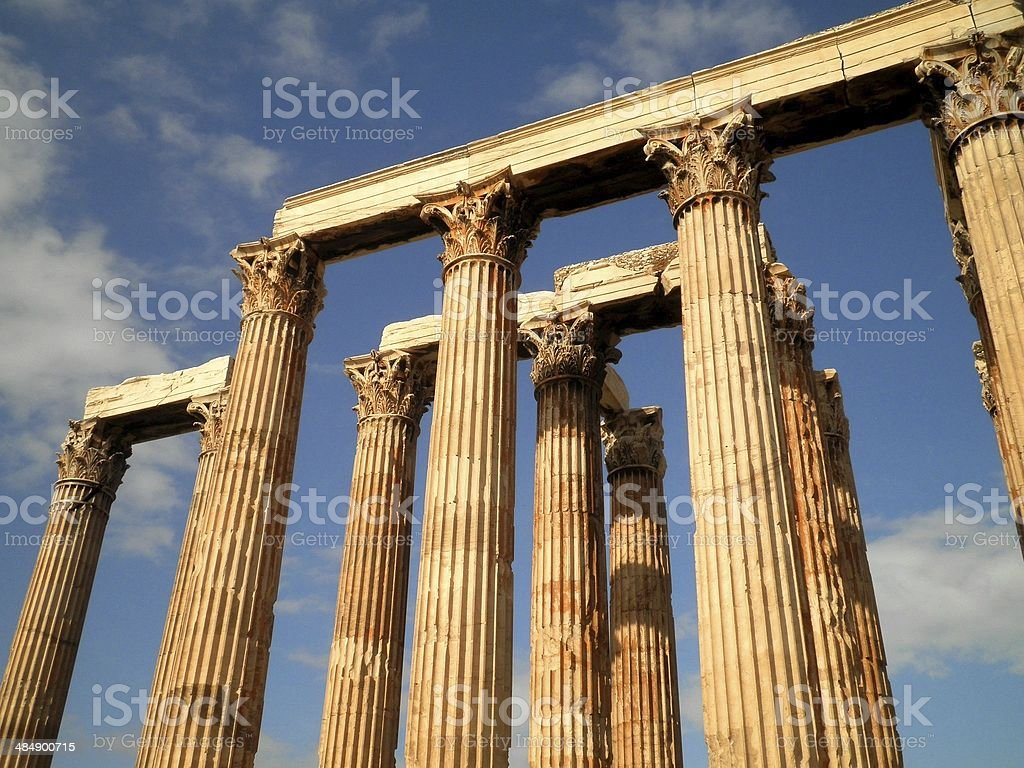 Temple Ruins in Athens royalty-free stock photo