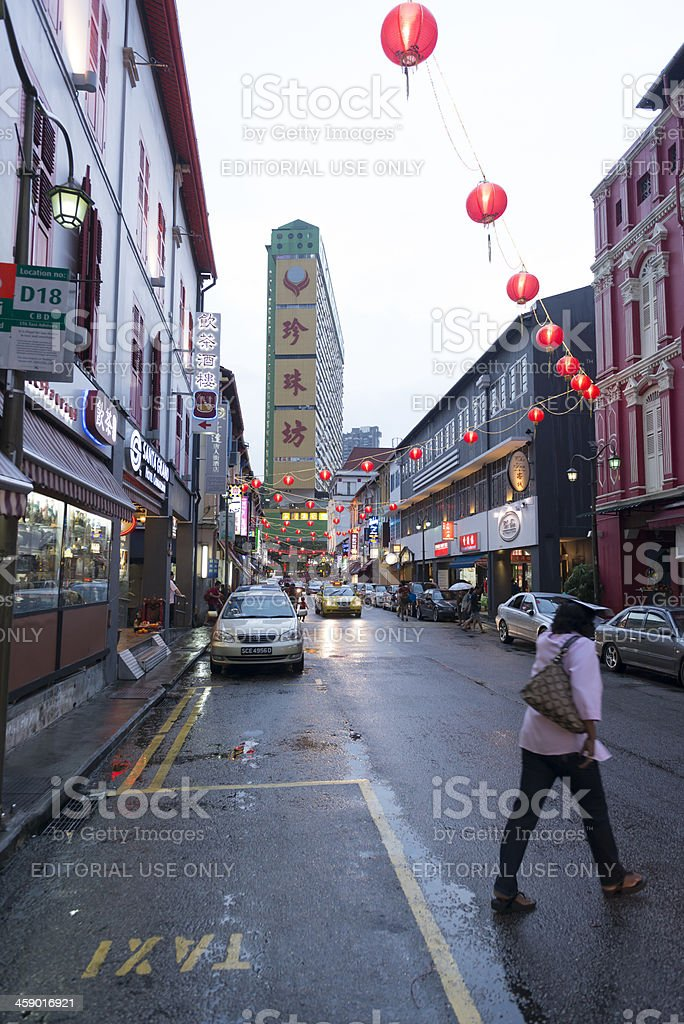 Temple Street Chinatown stock photo