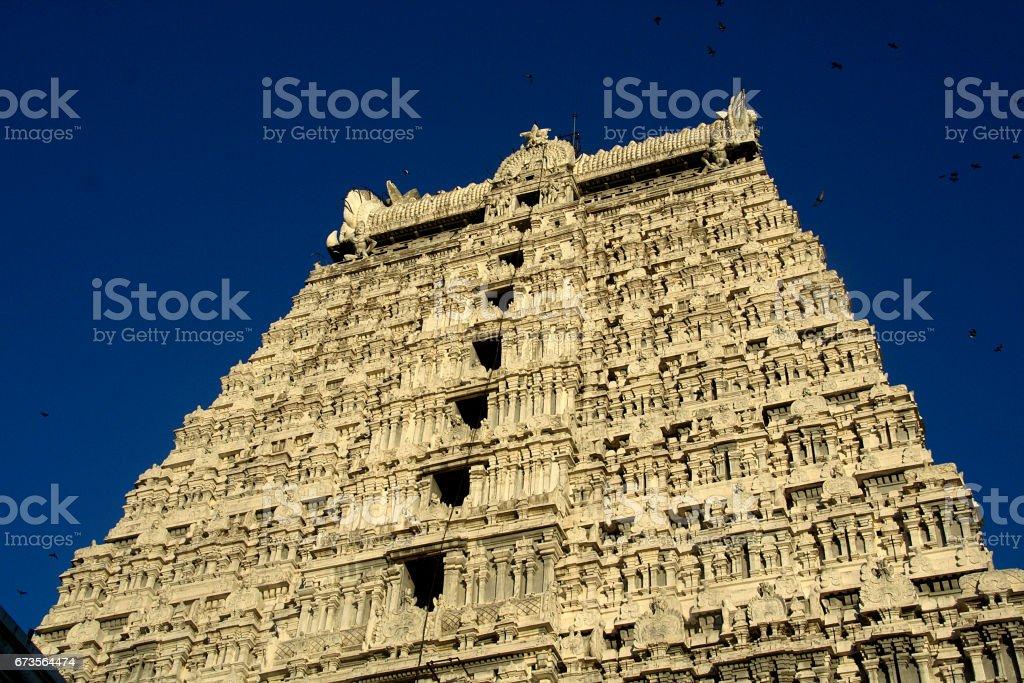 Temple Tower, Tiruvannamalai stock photo