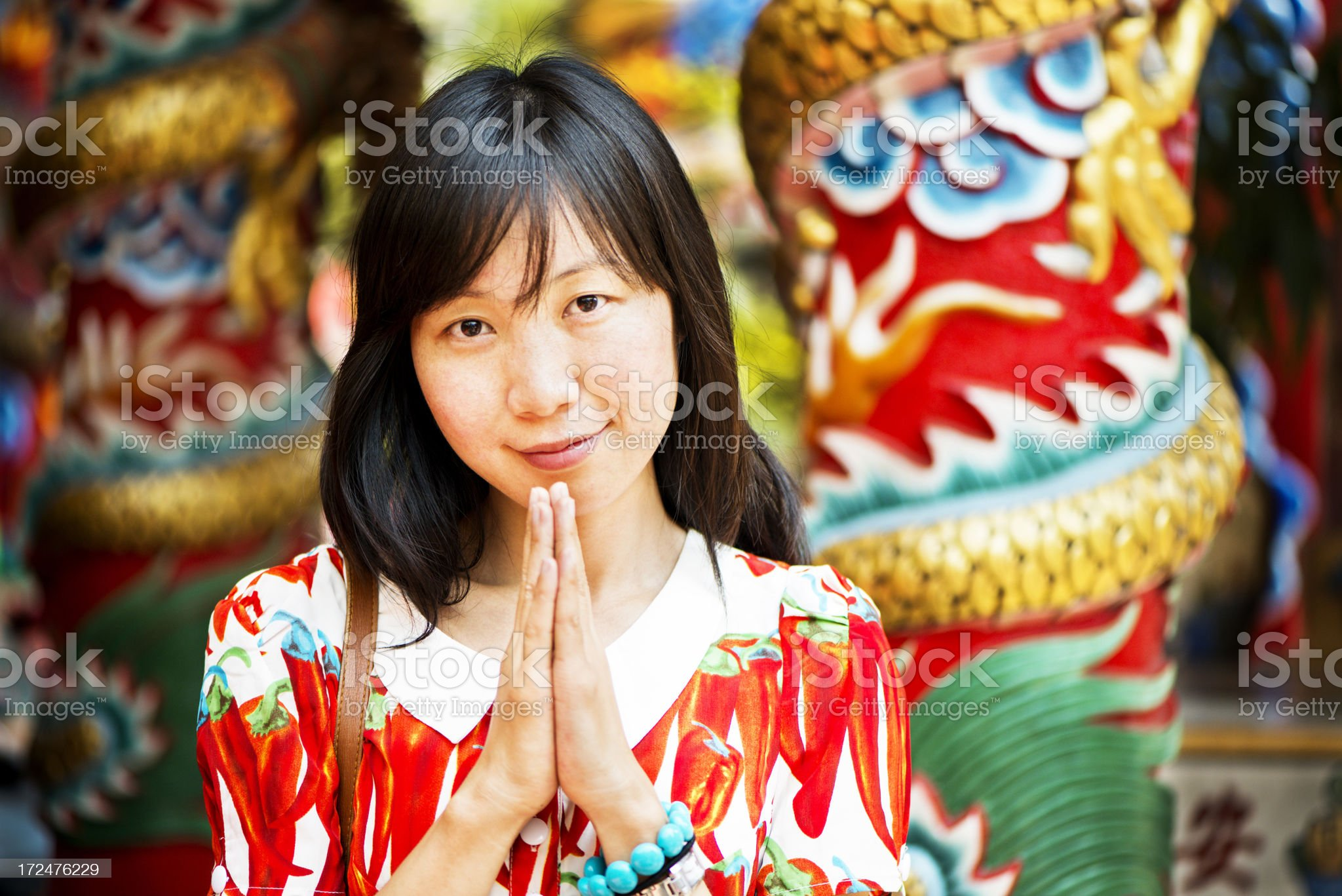 Temple Visitor royalty-free stock photo