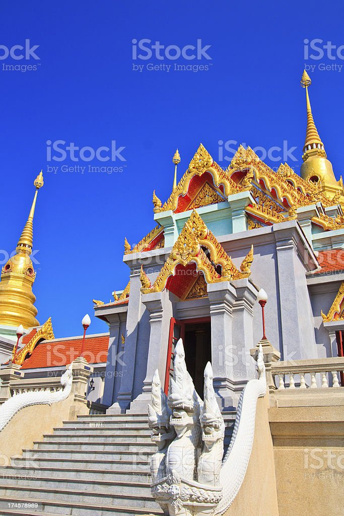 Temple Wat Maha Chedi  Thailand stock photo