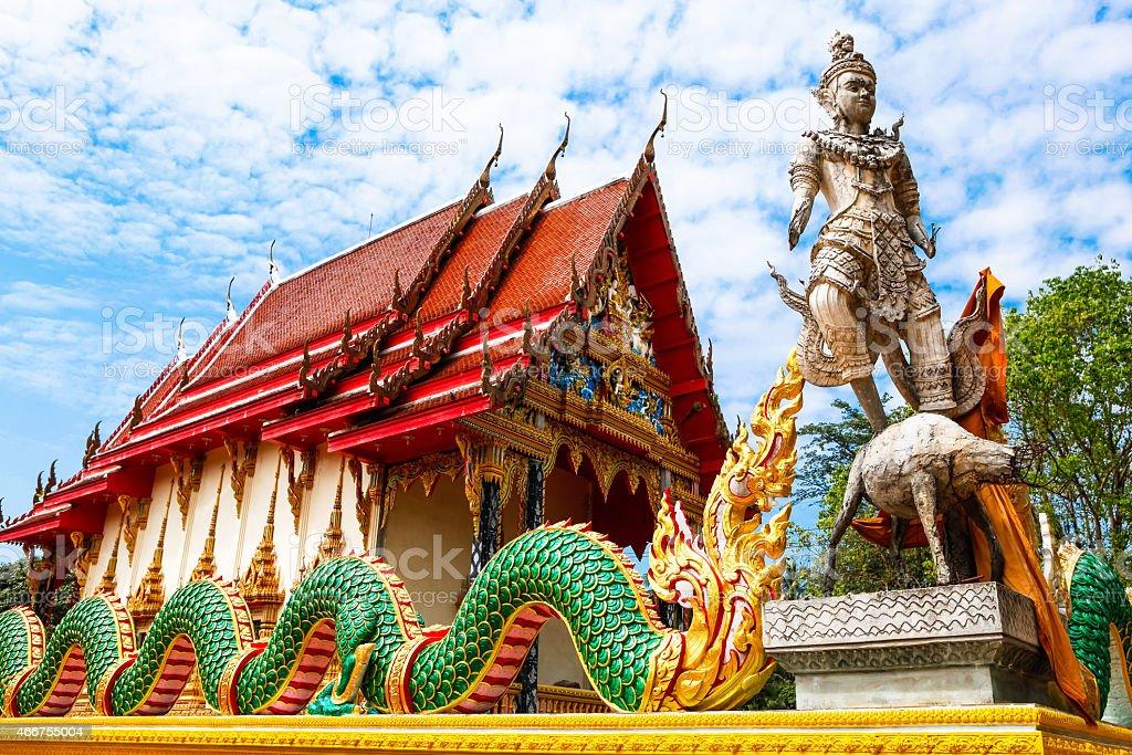temple Wat  Salakphet,  Thailand, Ko Chang island stock photo