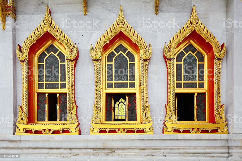 Temple window royalty-free stock photo