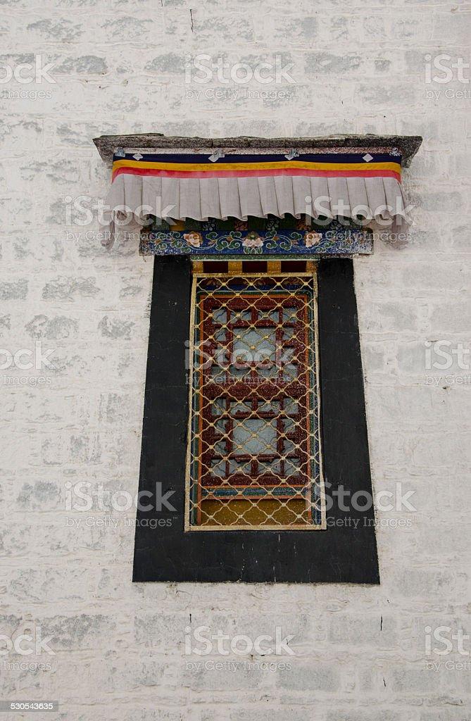 Temple window stock photo