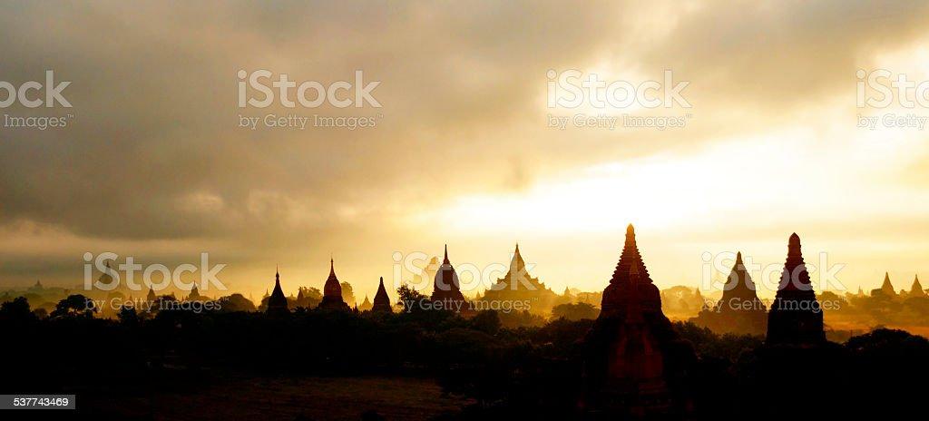 Temples at Bagan, Myanmar stock photo