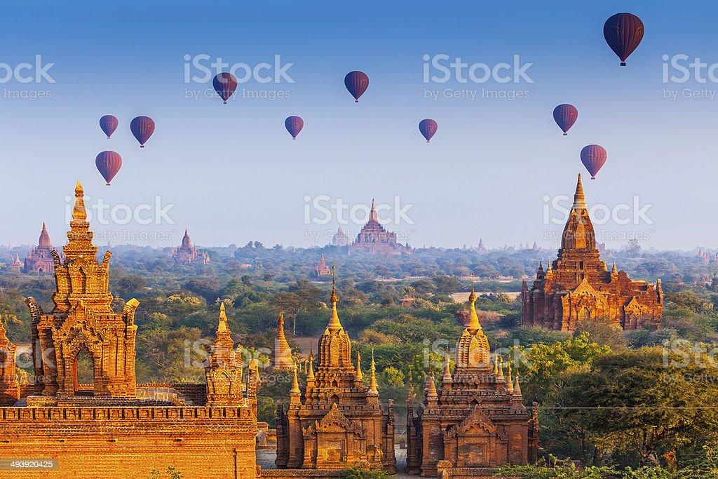 temples in Bagan, Myanmar stock photo