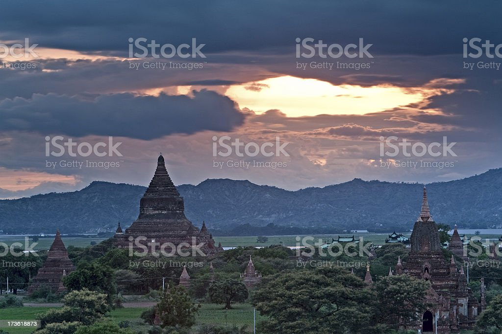 Temples in Bagan royalty-free stock photo