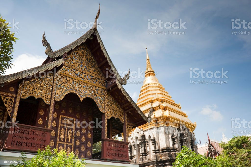 Temples in Chiang Mai, Thailand royalty-free stock photo