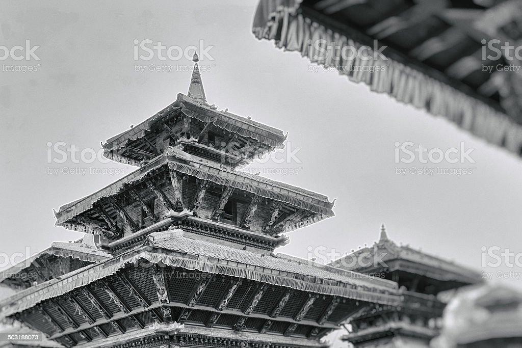 Temples in Kathmantu, Nepal royalty-free stock photo