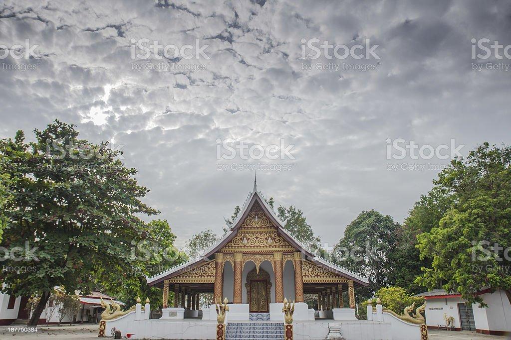 Temples in Luang prabang royalty-free stock photo