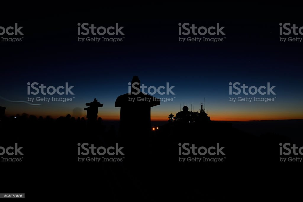Temples in the twilight stock photo