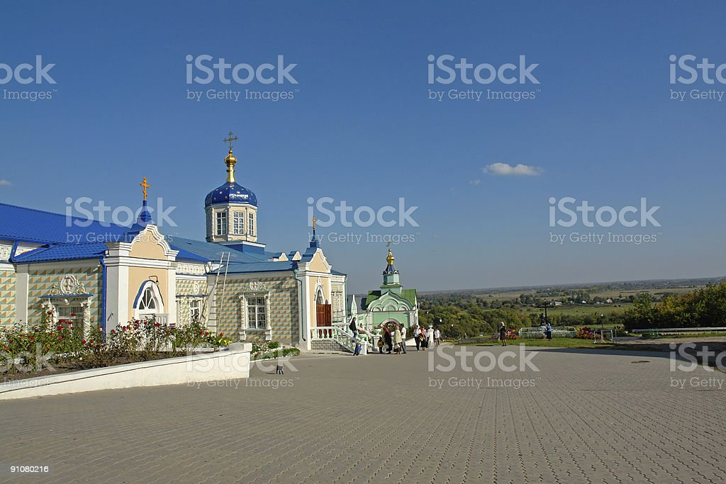 Temples of a monastery stock photo