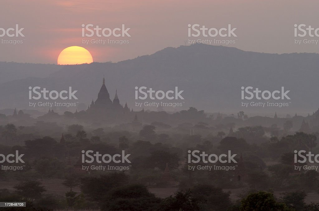 Temples of Bagan royalty-free stock photo