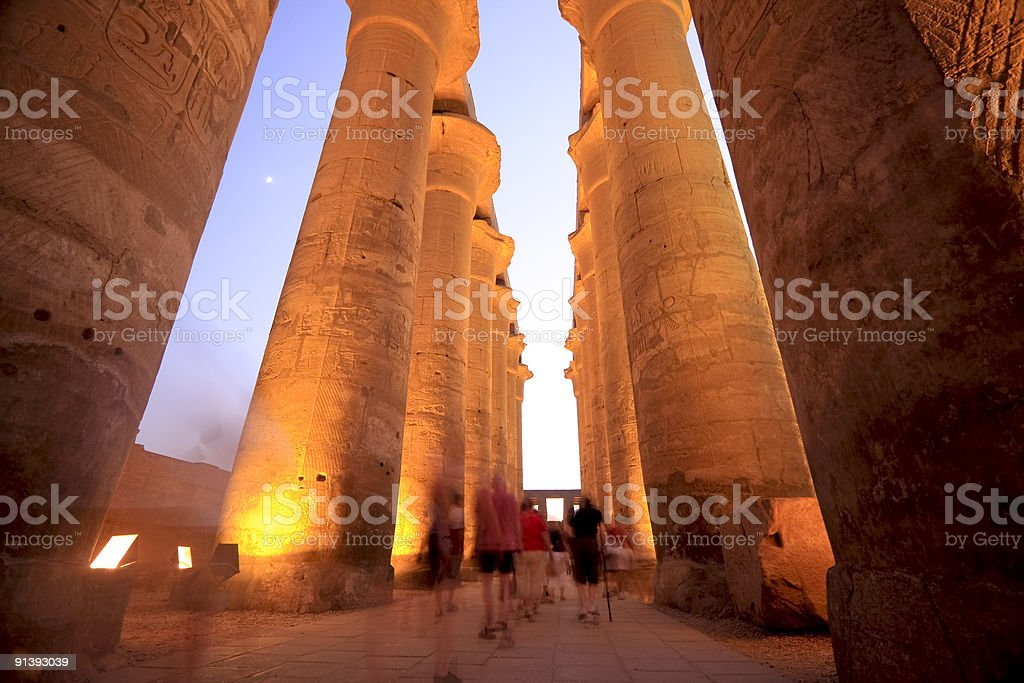 Temples of Karnak in Luxor, Egypt royalty-free stock photo