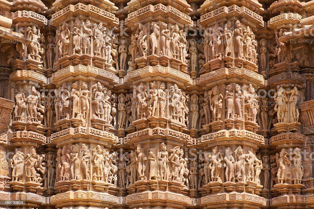 Temples of Khajuraho, stock photo