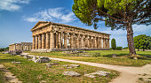 Temples of Paestum Archaeological Site, Campania, Italy