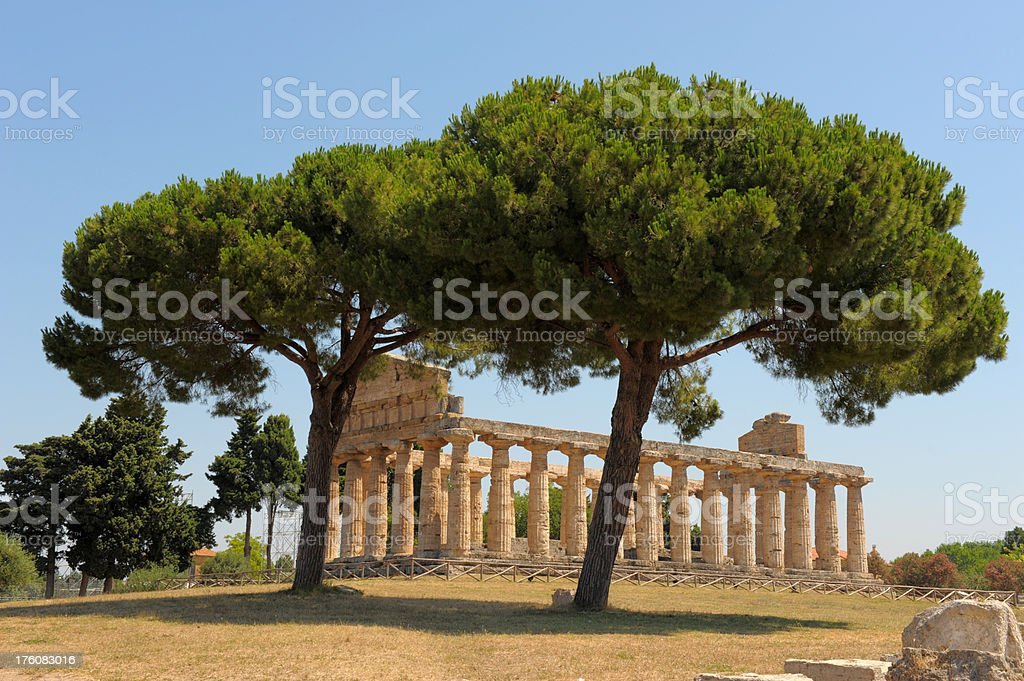 Temples of Paestum , near Naples, Italy stock photo