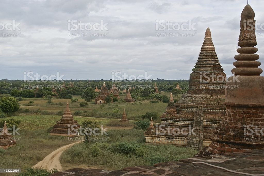Temples on the plains of Bagan, Myanmar royalty-free stock photo