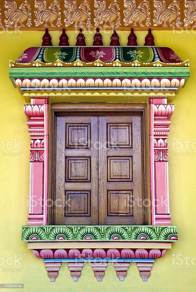 Temple's window royalty-free stock photo