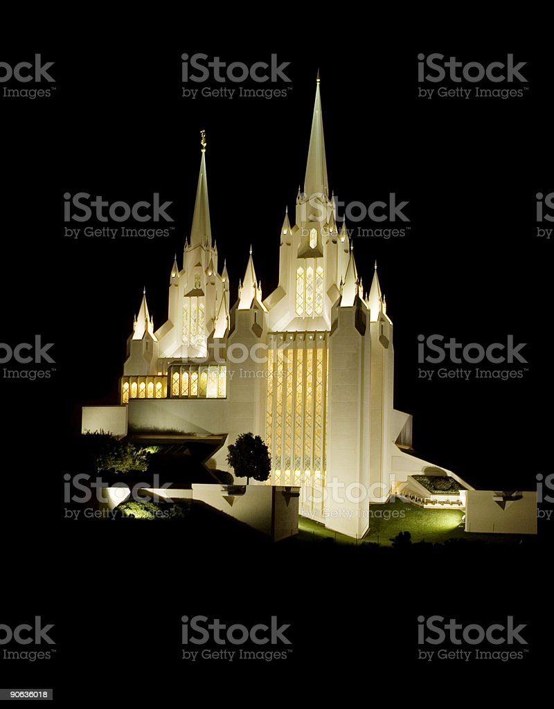 LDS (Mormom) Temple-San Diego stock photo