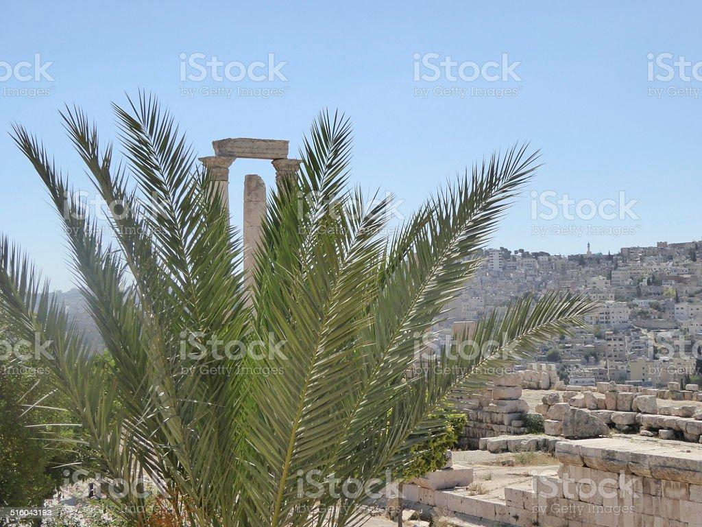 Templo de Hercules, Amman, Jordania stock photo
