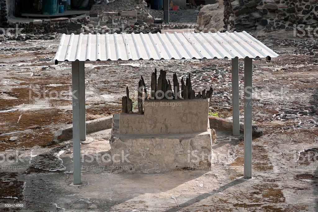 Templo Mayor, Mexico stock photo