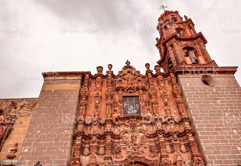 Templo San Francisco Facade San Miguel de Allende Mexico stock photo