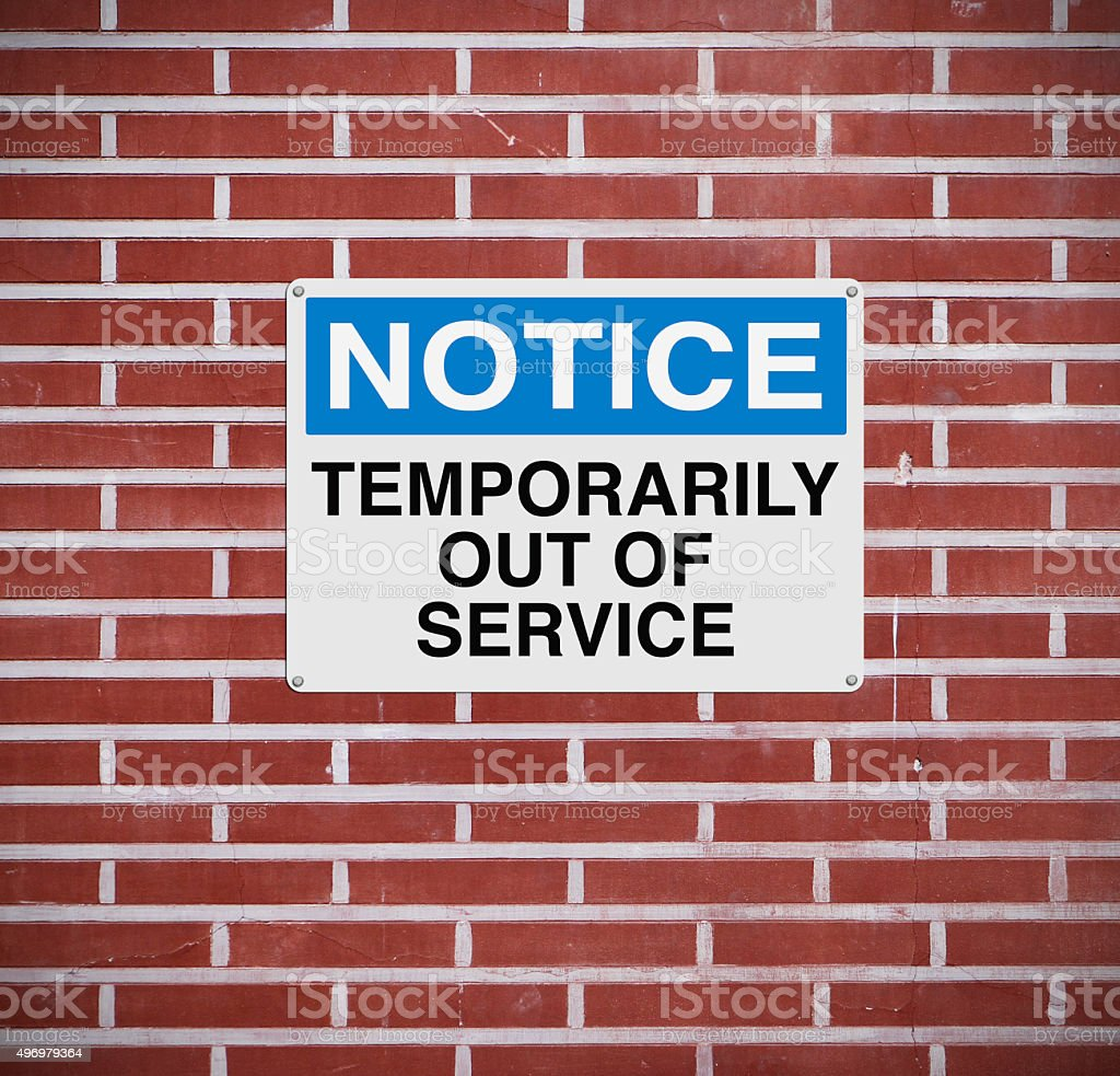 Temporarily Out of Service stock photo