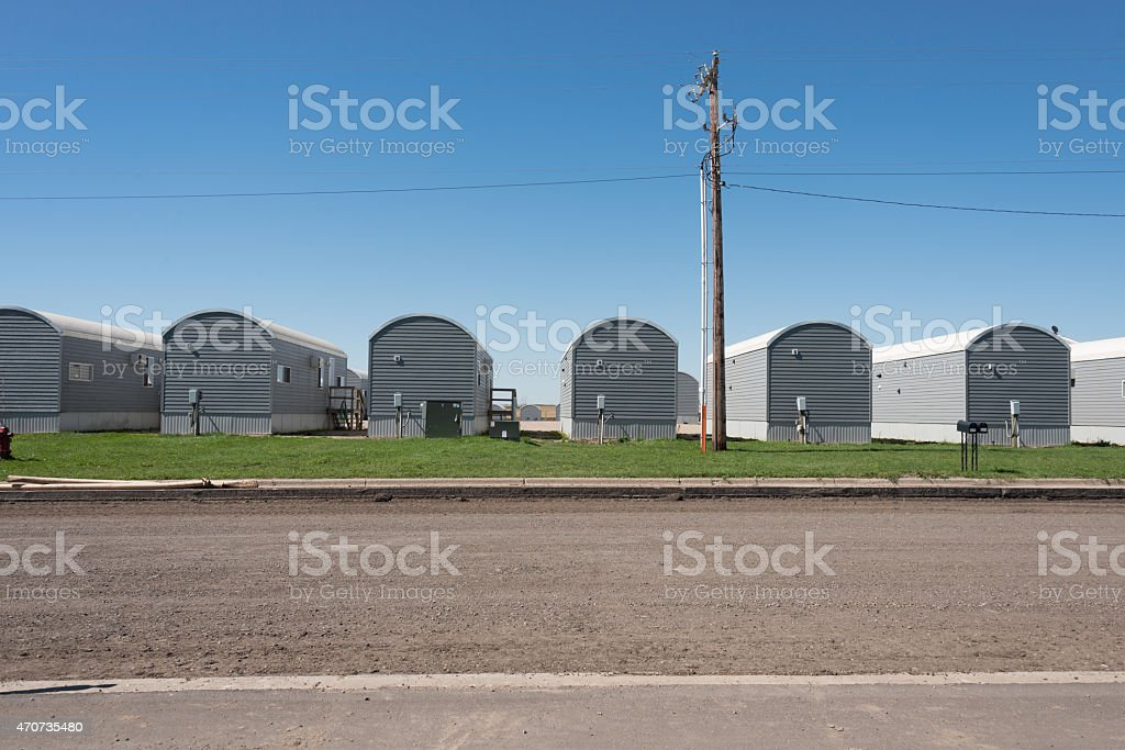 Temporary Homes for North Dakota's Oil Field Workers stock photo
