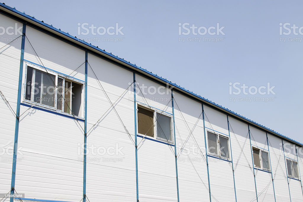temporary housing project royalty-free stock photo