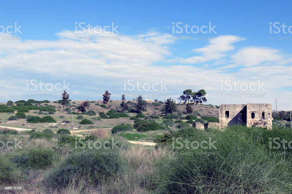 temporary military base in Israel stock photo