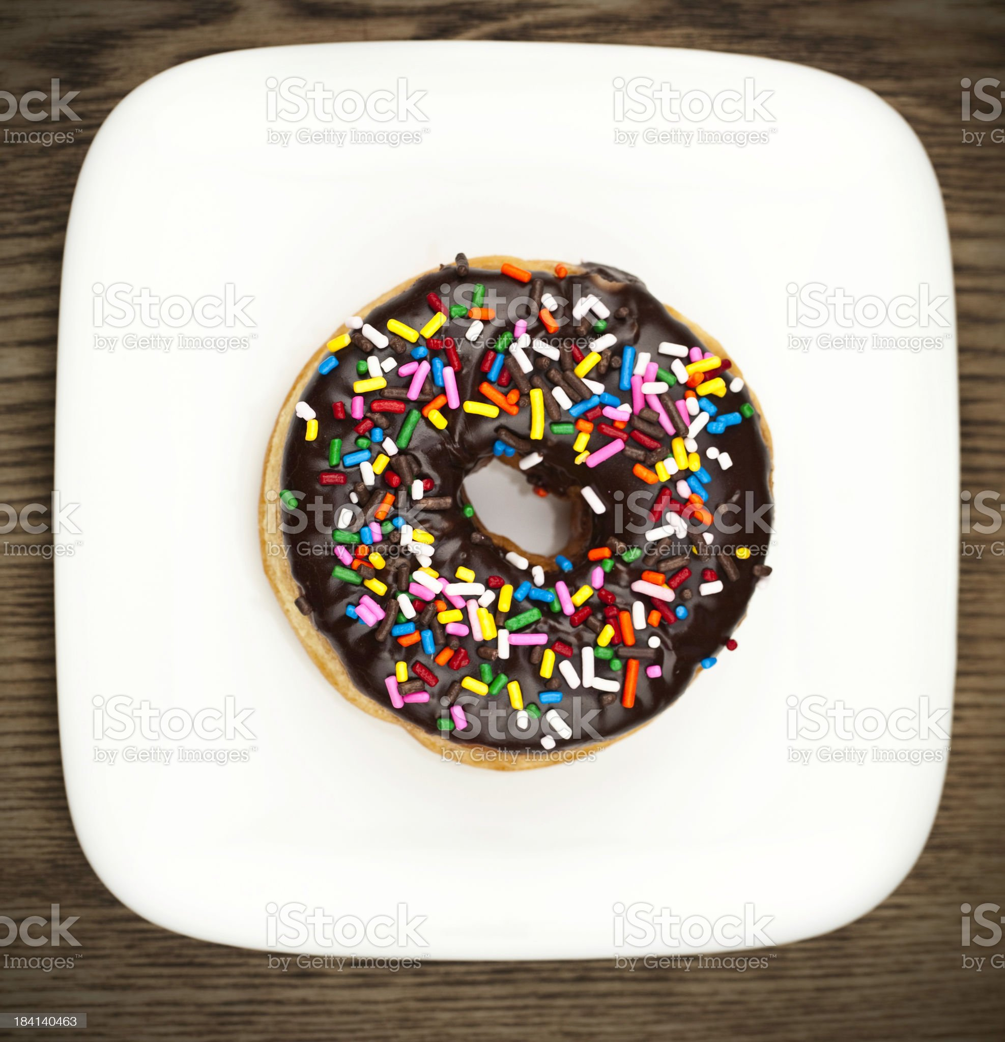 Temptation on a Plate royalty-free stock photo