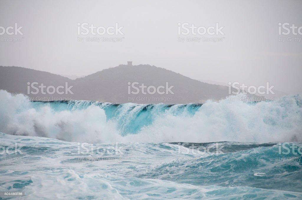 tempête en Corse stock photo