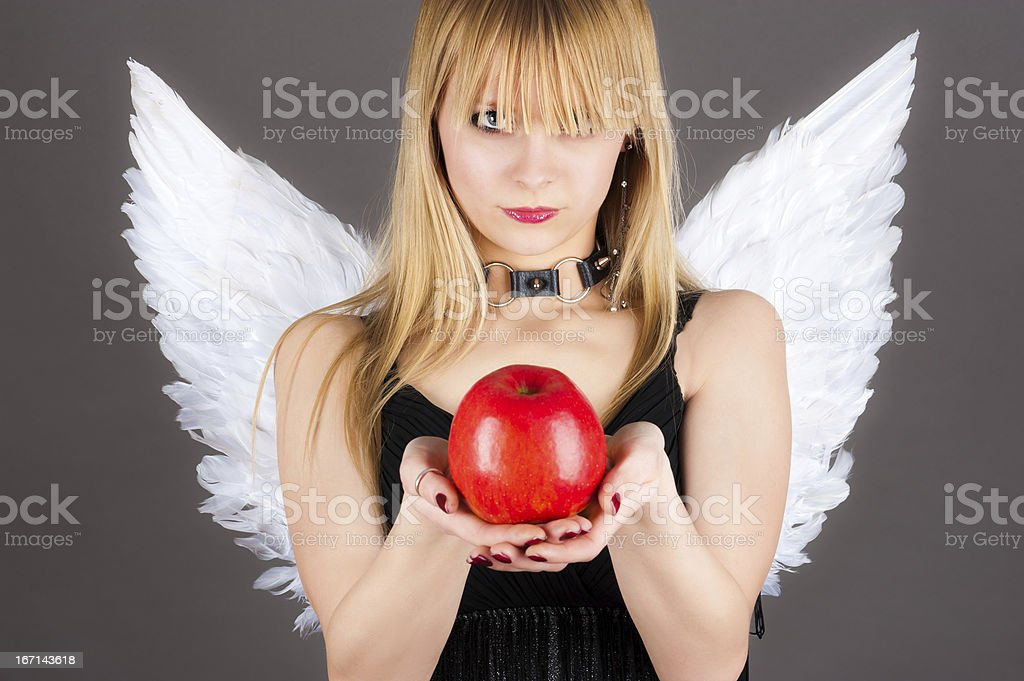 tempting angel royalty-free stock photo