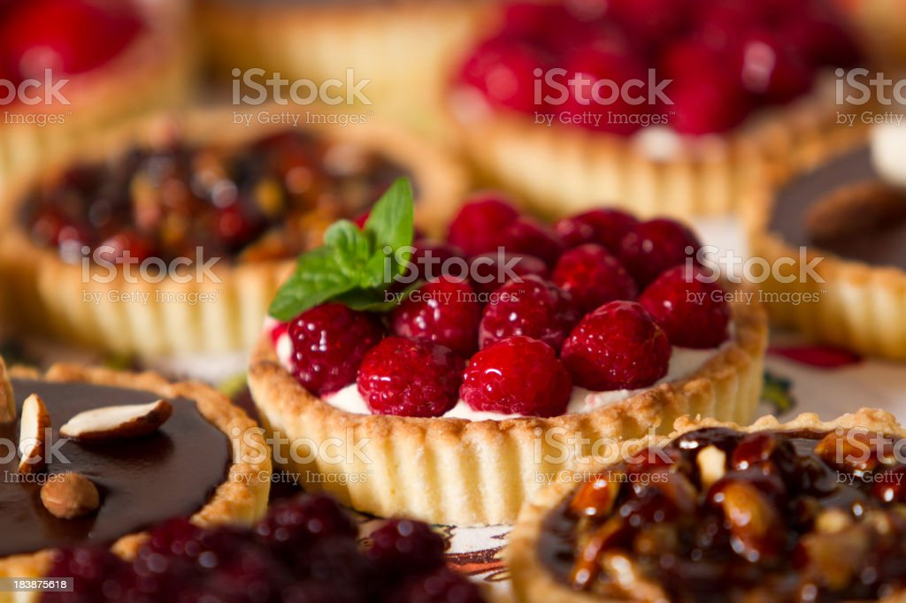 Tempting pies and pastries stock photo