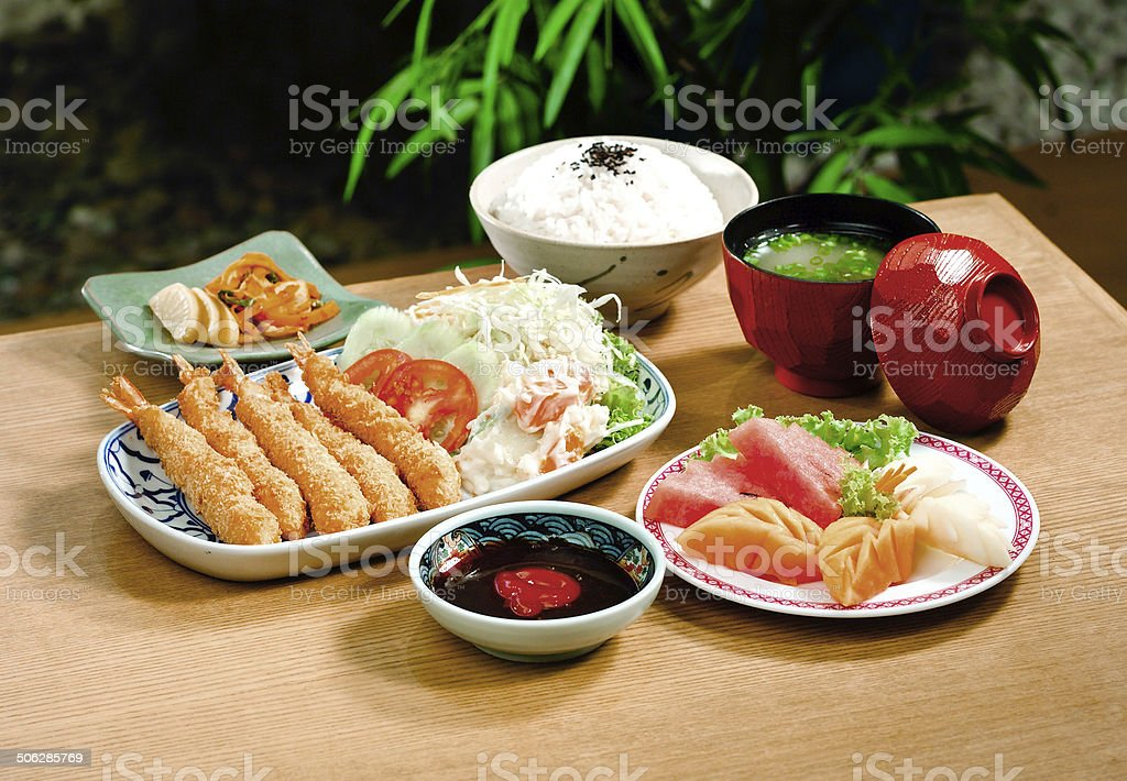 Tempura food the Japanese popular menu royalty-free stock photo