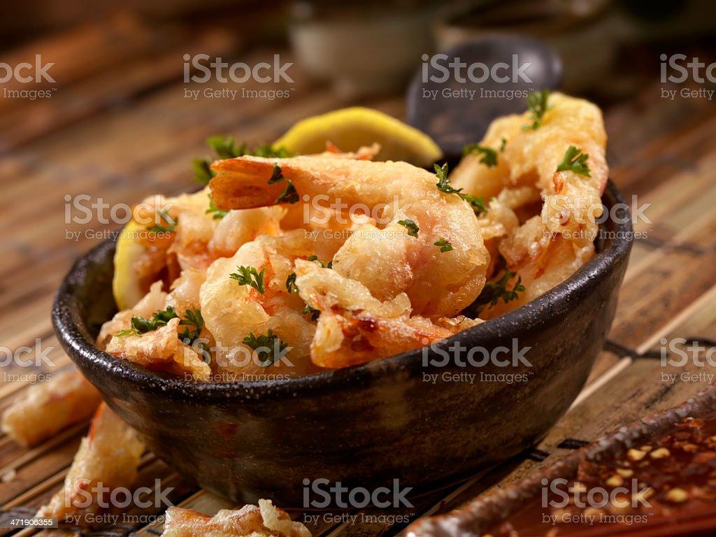 Tempura Shrimp royalty-free stock photo